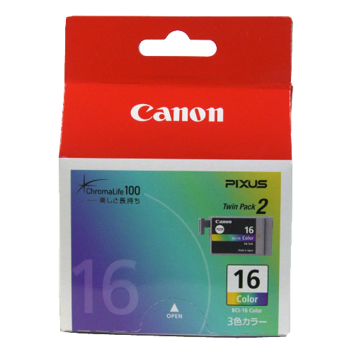 CANON BCI-16 カラー3色交換インク 2個セット 純正品