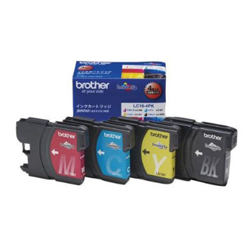 brother LC16-4PK 4色パック 純正品